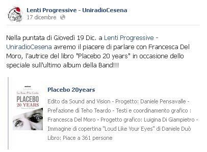 LentiProgressive 19 dicembre radio Cesena intervista e si parla del libro